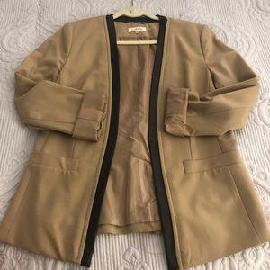 Calvin Klein blazer w/leather trim